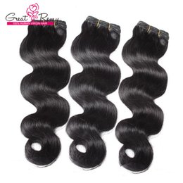 $enCountryForm.capitalKeyWord Canada - Greatremy® 100% Brazilian Hair Extensions Weft #1B Brazilian Body Wave Human Hair Weave Wavy 3pcs lot 8A Colored Hair Bundles