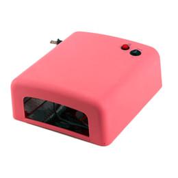 Portable Nail Art Canada - Wholesale- Compact Portable LED UV Nail Art Lamp 36W LED Nail Dryer Curing Lamp Machine for UV Gel light to Nail Polish US Plug