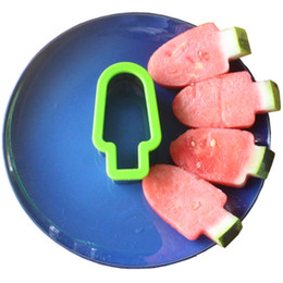 Cutter Fruit Watermelon Australia - Creative Kicthen Fruit Tools Popsicle Design Stainless Steel Watermelon Slicer Melon Cutter DIY Watermelon Popsicle Mould