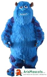 China 100% real photos Funny adult Sully Monster Dress mascot Costume cartoon character mascots fancy dress costumes kids carnival party dress suppliers