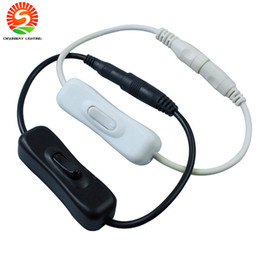 12v dc power cables 2019 - Hot Sale 2.1x5.5mm for DC In Line Power Cable Connector With ON OFF Switch For LED Strip Light 12V 2A cheap 12v dc power