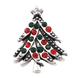 China Christmas Tree gift Crystal 18mm metal snap button Wrist watches for women charm DIY jewelry for bracelet bangles ZA364 suppliers