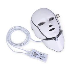 Горячий новый продукт IPL светотерапия Омоложение кожи привело маска шеи с 7 цветами для домашнего использования бесплатная доставка