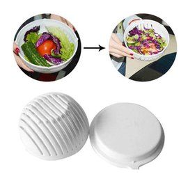 Chinese  60 Second Salad Cutter Bowl Easy Salad Fruit Vegetable Washer And Cutter Salad Bowl Cutter Strainer Retail box manufacturers