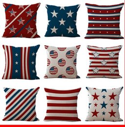 Chinese  American National Flag Old Glory Pillow Case Cushion cover Linen Cotton Throw Pillowcases sofa Bed Car Decorative Pillowcover drop ship manufacturers