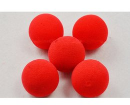 $enCountryForm.capitalKeyWord NZ - 4Pcs Set Factory Price Magic Red Sponge Foam Ball Clip Circus Clown Nose Comic Party Christmas party as gift