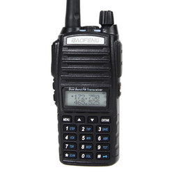 baofeng speaker UK - Freeshipping BAOFENG UV-82 VHF UHF Dual Band 136-174 400-520MHz 2-PTT 5W Two Way Radio Dual Display + Dual Standby