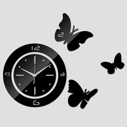 Round Mirror Wall Clock Online Round Mirror Wall Clock for Sale