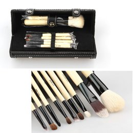 case hair wholesale UK - Pro 9 Pcs Woman Makeup Make Up Cosmetic Brushes Set Kit Tool With Travel Storage Case