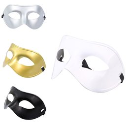 Celebrity Masquerade Ball UK - Wholesale-New Classic Women Men Venetian Masquerade Half Face Mask for Party Costume Ball Fancy Dress Costume
