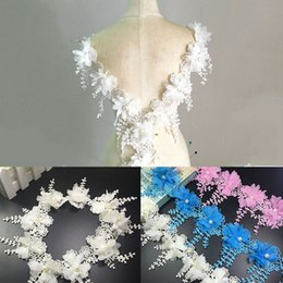 $enCountryForm.capitalKeyWord NZ - 2017 New Polyester Embroidery Clothing Accessories Fireworks Hanging Water Soluble Plus Chiffon Leaves Bubble Beads Lace 15 Yards strip LZ68