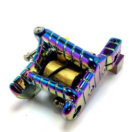 Machines À Tatouer Sur Mesure Pas Cher-Vente en gros - Livraison gratuite Machine de tatouage Custom Handmade Multi-Color Gun 10-Wrap Coils Liner / Shader Tattoo Gun