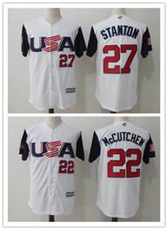 282b9ff10 Buster Posey Gray Replica Jersey USA Baseball Jersey Giancarlo Stanton 27  Andrew McCutchen .