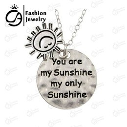 $enCountryForm.capitalKeyWord Canada - Wholesale Fashion Jewelry You are my Sunshine My only Sunshine Two Pendant neckalces for Friends Lover Boy 20Pcs Lot #LN1023