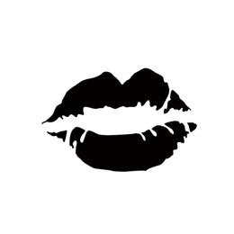 Chinese  Hot Sale Lips Kiss Lipstick Vinyl Decal Car Window Bumper Sticker Cute Sexy Decorative Stickers Car Decals manufacturers