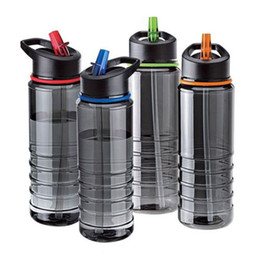 Tools Direct Canada - New Hot Sales Flip Straw Tritan Drinks Bottle Cup Sport Hydration Water Bottle For Cycling Hiking Caming Drinking Tools 750ML