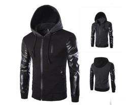 Crystal Designs Canada - Men's hooded sleeves fight leather design fashion jacket jacket- J07