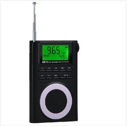 $enCountryForm.capitalKeyWord Canada - Wholesale-Portable FM Stereo MW SW Digital Degen DE19 Radio DSP World Band Receiver clock radio portatiles usb frequency and LED backlight