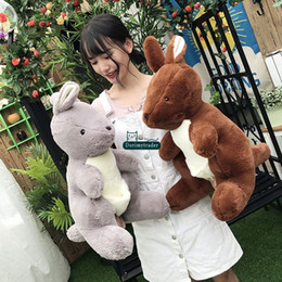 $enCountryForm.capitalKeyWord Canada - Dorimytrader New 58cm Big Cute Soft Animal Kangaroo Plush Doll Pop Stuffed Cartoon Kangaroos Toy Pillow Lover and Child Present DY61597