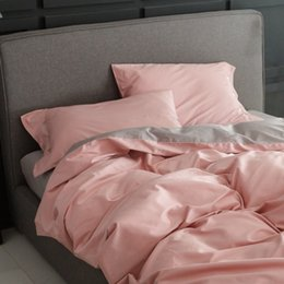 100 egyptian cotton pink duvet cover setqueen king multisize bedding set adultsgrey bed sheets pillow case quilt cover - 100 Egyptian Cotton Sheets