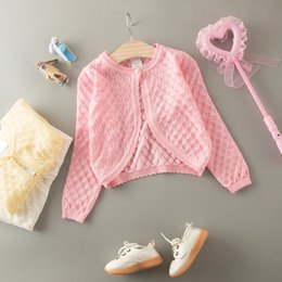 Pulls Tricotant Mignons Pour Filles Pas Cher-Everweekend Girls Candy Knitted Sweater Cardigans Crochet Sweater Vestes Spring Fall Cute Children Fashion Outwears