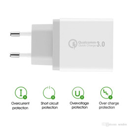 Discount smartphone 3.5 - Quick Wall Charge QC 3.0 Fast charger 3 Ports USB Wall Charger Adapter EU   US   UK Plug for Smartphone Samsung S8 for I