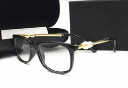 Pearl eyewear online shopping - Italy Luxury Brand Designer fashion Pearl sunglassess For Women Reading Radiation Protection Frames Eyewear Clear Lens Eyeglasses