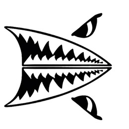 $enCountryForm.capitalKeyWord Canada - Mini Shark Teeth Great White Shark Body Personality Vinyl Decals Car Styling Car Stickers Accessories JDM