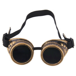China Wholesale-Cyber Goggles Steampunk Glasses Vintage Retro Welding Punk Gothic Sunglasses 2016 Fashion supplier welding goggle sunglasses suppliers
