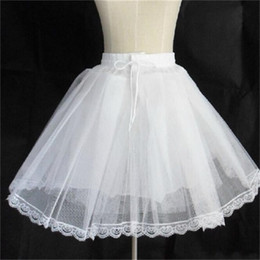 short crinoline wedding dress NZ - 2017 New Short Petticoats Wedding Formal Dress Accessories Stock White 3 Layers Crinoline Bridal Lady Girls Children Underskirt