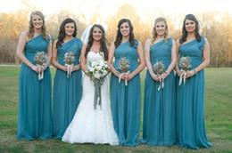Discount Bridesmaid Long Dresses Teal   2017 Dark Teal Long ...