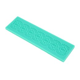 cake lace moulds UK - 3D Kitchen Silicone DIY Cake Fondant Mould Flower Lace Mat Mold Sugar Chocolate Lace Pad Craft Wedding Baking Decorating Tools