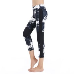 Barato Menina Pés Pequenos-2017 New Winter Outdoor Sports, Yoga Pants, Indoor Fitness, Running Big Yards, Girls Casual Fashion, Small Foot Pants Printing