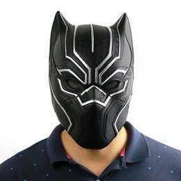 Adult Captain America Mask UK - Captain America Civil War Black Panther Helmet Mask Prop Cosplay For Adult And Teen