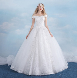 Ball Yard Canada - The New Bride Neat Spring And Summer Dress Lace White Large Yards Fashion Lace Wedding Dress