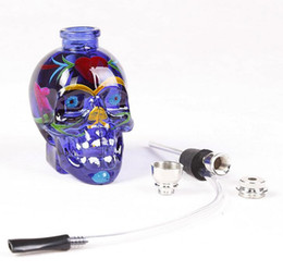 Chinese  New Skull colored drawing glass hookah Glass bong fab egg Bongs original Faberge Egg Water pipe recycler bongs oil rig dabs glass manufacturers
