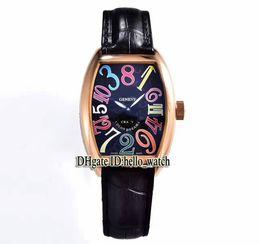 Опт Высокое качество CRAZY HOURS 8880 CH Черный циферблат Автоматические мужские часы из розового золота с кожаным ремешком Высокое качество New Sport Дешевые часы