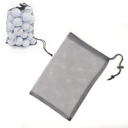 Discount nylon cage - Wholesale- Nylon Golf Balls Holder Mesh Bag Training bag Tennis Hold Ball Storage Closure Aid Durable Black