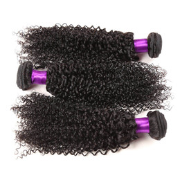 Best Unprocessed Human Hair Extensions Canada - Grade 7A Brazilian Curly Virgin Hair Human Hair Weave 2 3 4  Bundles Best Unprocessed Virgin Brazilian Kinky Curly Hair Extensions