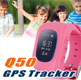 gps tracker for kids wholesale Canada - 2016 Kid Safe GPS Q50 Child smart Watch SOS Call Location Finder Locator Tracker smartwatch for Kid Children Anti Lost Monitor Baby Son