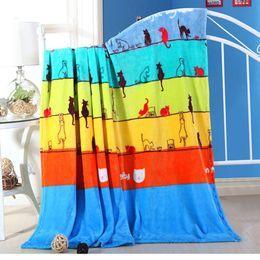 $enCountryForm.capitalKeyWord Australia - Wholesale- Cheap 200x230cm Hot sale big size cat brand Blankets for beds fleece warm winter sleeping sofa blanket plaid bedspreads for girl