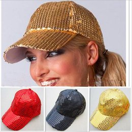 2650316c2a573 Stage Hats Canada - Club Dancer Performance Stage Sequin Party Cap Adults  Children Baseball Cap Glitter
