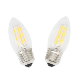led bulbs warm white NZ - 4W E27 Bulb LED Filament Light C35 Chandelier Candle Style Warm White Cold White 110V 220V Non-dimmable