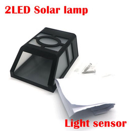 wall lanterns outdoor solar light UK - Solar Powered Wall Mount 2LEDs Lantern led solar light outdoor Landscape garden light solar lamp Walkway Park Path