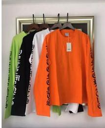 Oversized T Shirt Men Long NZ - 2017ss new men and women KANYE WEST cotton t shirt tees Street Hip Hop long sleeve t shirt vetements oversized tops