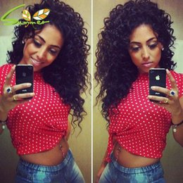 Deep Curly Indian Lace Wig Australia - Hot New Deep Parting 13x6 Curly Lace Front Wigs Glueless Full Lace Wig Curly Human Hair Wigs with Baby Hair Bleached Knots