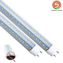 5ft v shape led tube lights NZ - 28W 36W 42W 72W G13 V-Shaped Led T8 Tubes Double Sides 4ft 5ft 6ft 8ft 2pin Led Fluorescent Tubes Lamp Cooler Lights AC85-277V