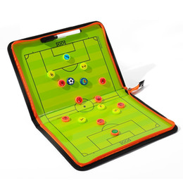 Football board online shopping - Soccer Tactical Board Zipper Type Leather Magnetic Color Field Fold Football Tactics Coach Boards Teaching Equimpment Hot Sale zx F