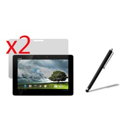 $enCountryForm.capitalKeyWord UK - Wholesale- 2x films +2x Clean cloth +1x Stylus , Clear LCD Screen Protector Protective Film Guards For Asus Eee Pad Transformer Prime TF201