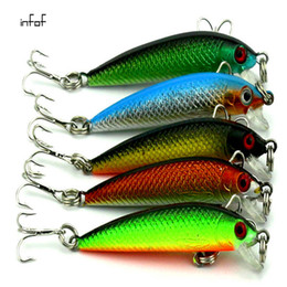 Hard Bait Minnow Crankbait Canada - INFOF 5pcs lot 5.5cm 2.16in 3.6g 0.127oz Minnow Fishing lures crankbait peche jerkbait artificial pike Fish bait hard bait